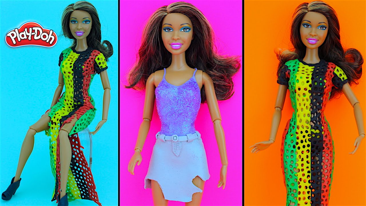 Rihanna Work Inspired Diy Play Doh Fashion Dress For Barbie Doll You