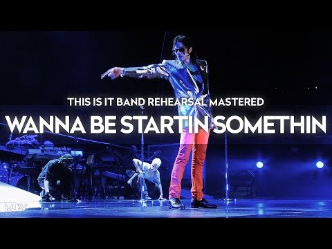 """[Instrumental] """"WANNA BE STARTIN' SOMETHIN'"""" - This Is It Band Rehearsal (Mastered By MJFV)"""