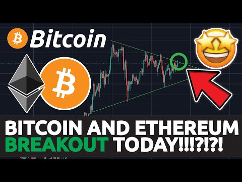 BITCOIN AND ETHEREUM BREAKOUT TODAY !!!!!?!?!? BITCOIN TARGET REACHED!!!!