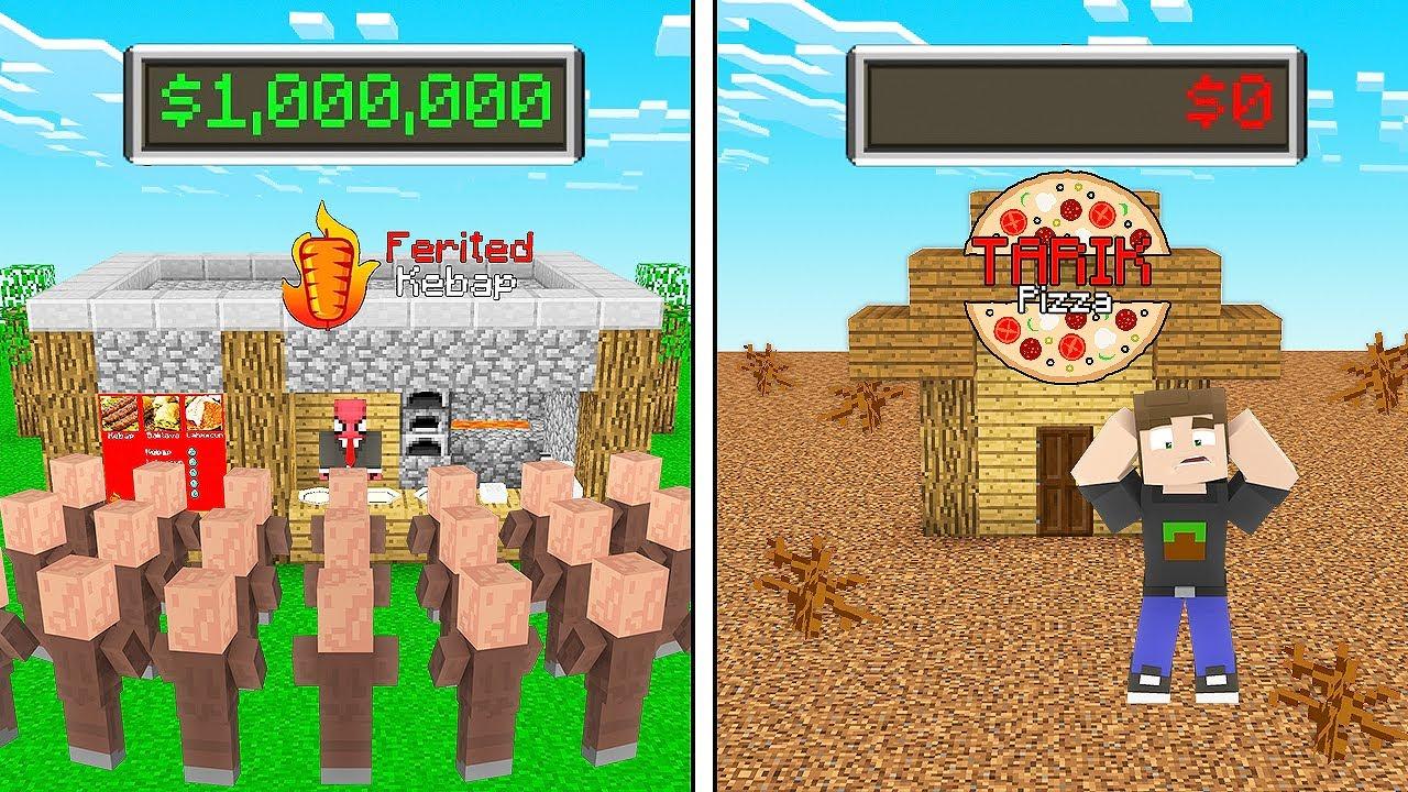 FERİTED RESTORAN VS TARIK RESTORAN 🍴 - Minecraft