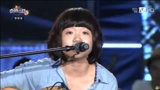 슈퍼스타K5 4회 무대영상] 김민지   단발머리- 조용필   이경현 - 거름 울랄라세션