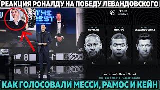 Лучший игрок 2020 Как голосовали Месси Рамос и Кейн Реакция Роналду на победу Левандовского