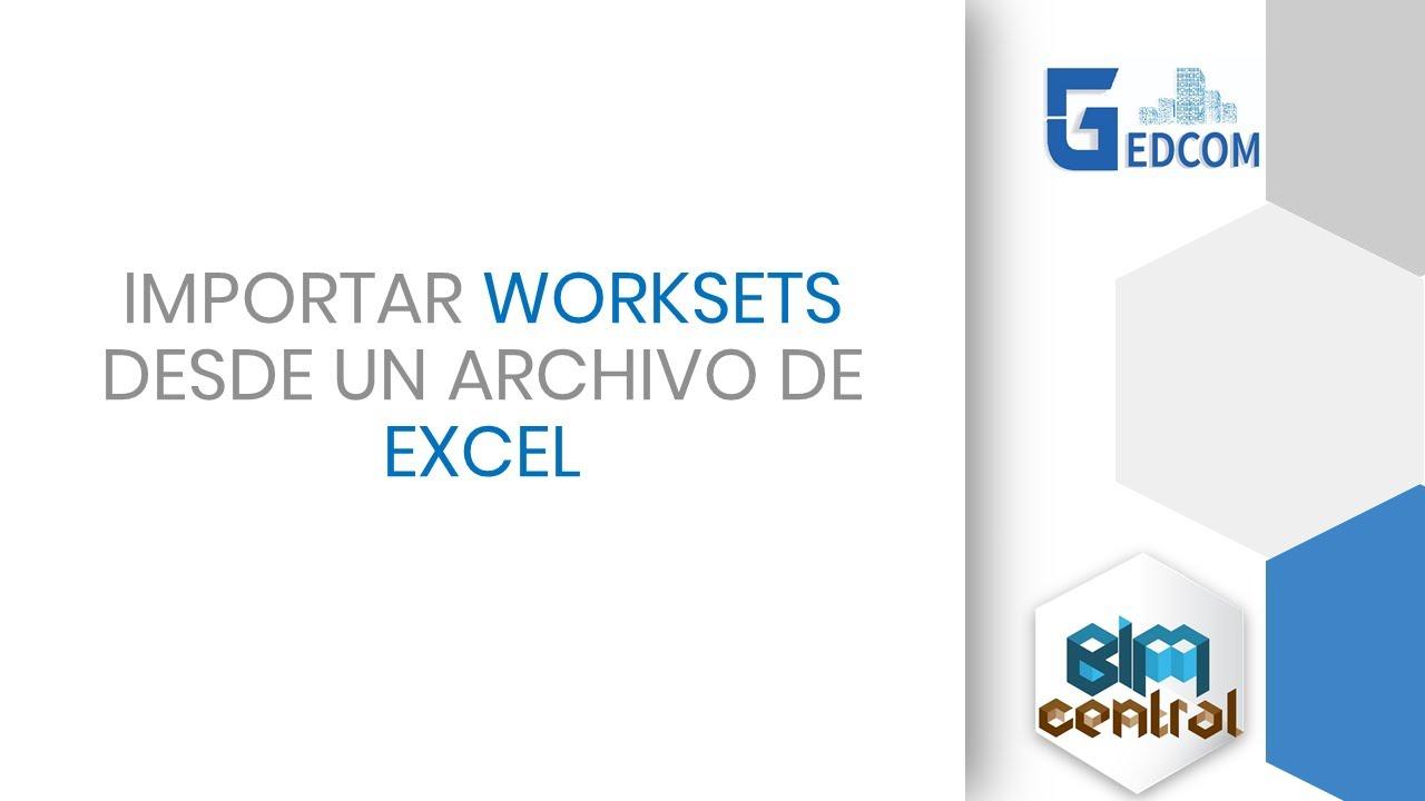 Creación de Worksets en Revit desde Excel con Dynamo