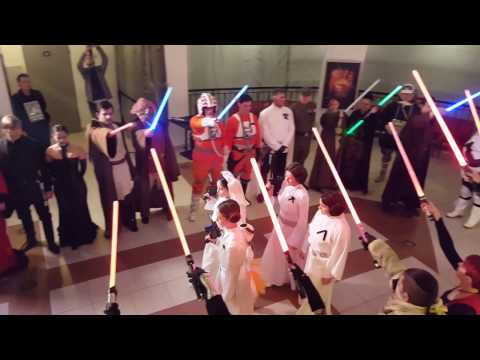 Hungarian Star Wars fans gather to commemorate Carrie Fisher