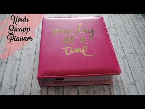 Heidi Swapp Planner Review One Day at Time