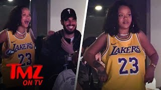 Rihanna Cheers On Lebron While Celebrating Her Birthday! | TMZ TV