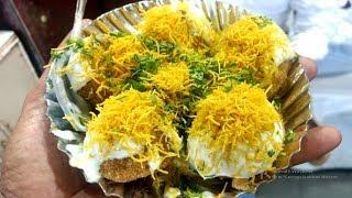 Shev Puri   Dahi Puri   Best Mumbai Famous Street Chaat   Mumbai Street Food   Street food of India