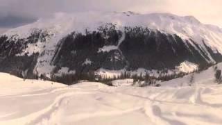 Tony Caroline and Guisepp skiing Teufi Thumbnail