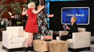 Ellen's Favorite Funny Ladies: Melissa McCarthy & Lena Dunham Play 'Heads Up!'