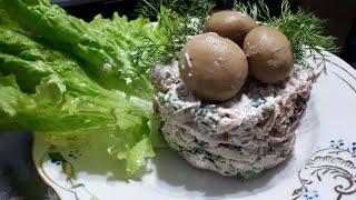 САМЫЙ ВКУСНЫЙ САЛАТ из  КУРИЦЫ с орехами и грибами | Chicken SALAD with nuts and mushrooms
