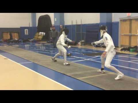 U.Chilana vs Sean Pak-Boston Fencing Club RJCC 2016 (Waltham, Massachusetts)
