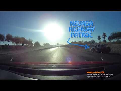 HD Nevada Highway Patrol Stops 2 Racers in Las Vegas