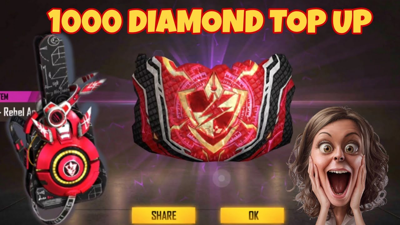 NEW TOP UP EVENT FREEFIRE New gloo wall skin and Bag pack😍 | 1000 Diamond Top Up