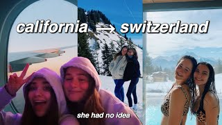 FLYING TO SWITZERLAND TO SURPRISE MY BEST FRIEND