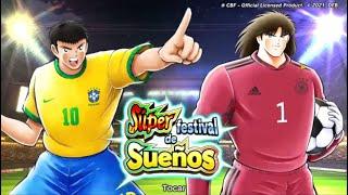 Captain Tsubasa: Dream Team!Super Dream Fest Rivaul y Muller+billetes SSR