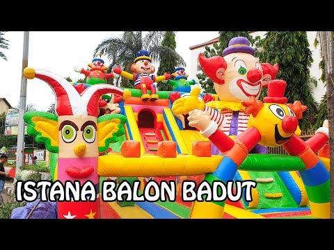 Baru!! Istana Balon BADUT bagus banget - Bounce House for kids