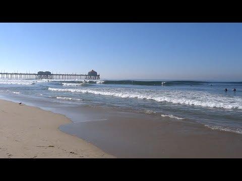 Huntington Beach, CA, Surf, 10/15/2017 - Part 1 (1080p)