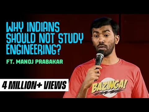 Why Indians should NOT study Engineering | Stand-up comedy by Manoj Prabakar