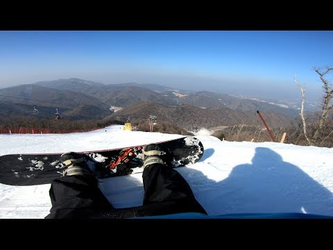 YongPyong Resort Korea Snowboard Tour! [Rainbow Olympics Course]