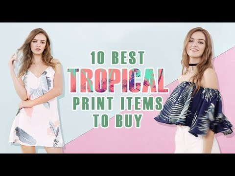 Best to Buy | 10 Tropical Print Items | SHEIN TV
