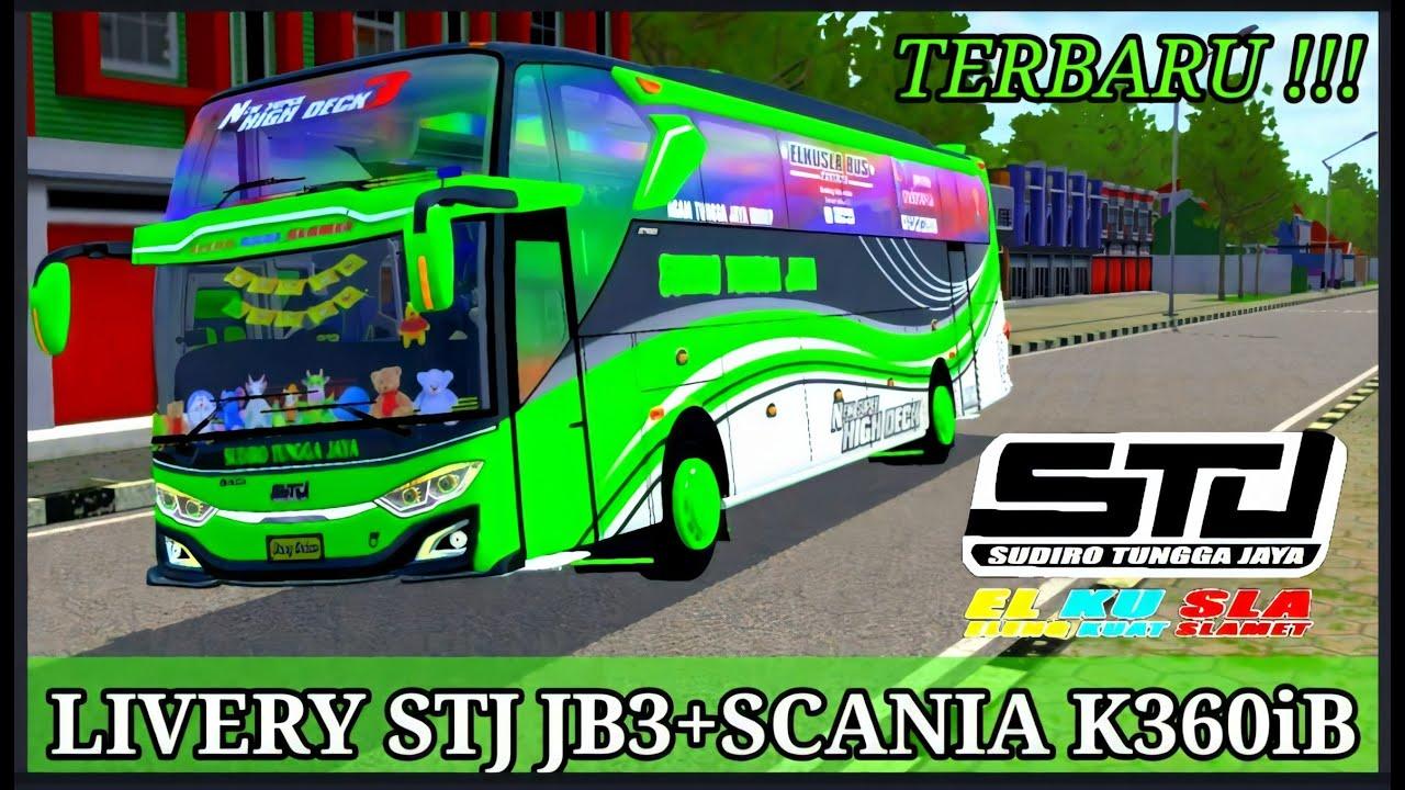 Livery Bussid Stj Jb3 Scania K360ib Cvt Aldovadewa Youtube