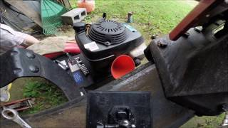 FAST - How to Change the Oil in a Log Splitter