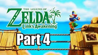 The Legend of Zelda: Link's Awakening (2019) Switch Gameplay Walkthrough Part 4 (No Commentary)
