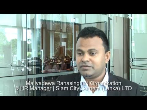 Maliyadewa Ranasinghe, Siam City Cement (Lanka) LTD explains why this event differs from others