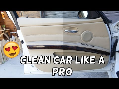 HOW TO CLEAN DIRTY DOOR PANELS demonstrated on BMW