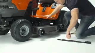 Трактор Husqvarna   система быстрой смены ножей RapidReplace(, 2015-02-24T09:35:35.000Z)