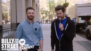 Billy on the Street with CHRIS EVANS!!! (And surprise guests!)