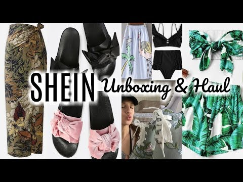 SHEIN.COM HAUL | HUGE UNBOXING | Clothes, Shoes, and Swimwear