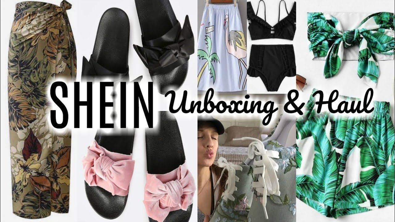a522771ee8 SHEIN.COM HAUL | HUGE UNBOXING | Clothes, Shoes, and Swimwear - YouTube