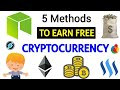 How to earn free cryptocurrency | 5 best methods 🔥❤️