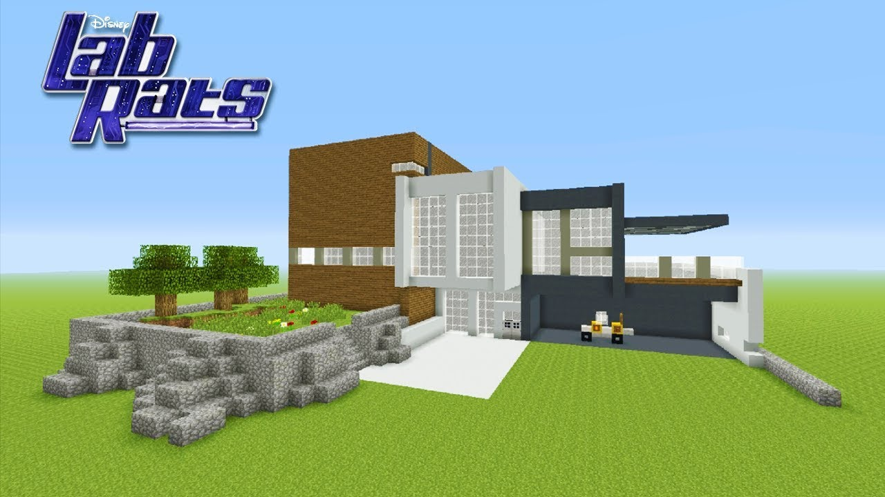 Minecraft Tutorial How To Make The Lab Rats House Lab Rats Youtube