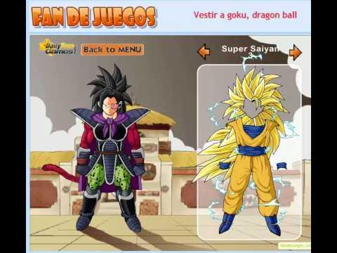 Un Juego De Vestir Goku Con Nuevos Atuendos