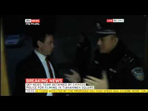 UK reporter broadcasts LIVE from China while detained by state cops