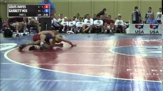 106 f, Garrett Vos, Minnesota vs Louis Hayes, Illinois