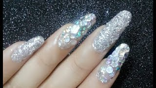 Glitter nail art/ glitter placement / party nails/birthday nail art