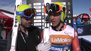 How to ski blind at 100km per hour