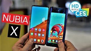 NUBIA X con DUAL DISPLAY e Snapdragon 845: altro che notch! | CES 2019