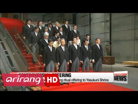 Korea criticizes Japanese leader for sending offering to controversial Yasukuni shrine