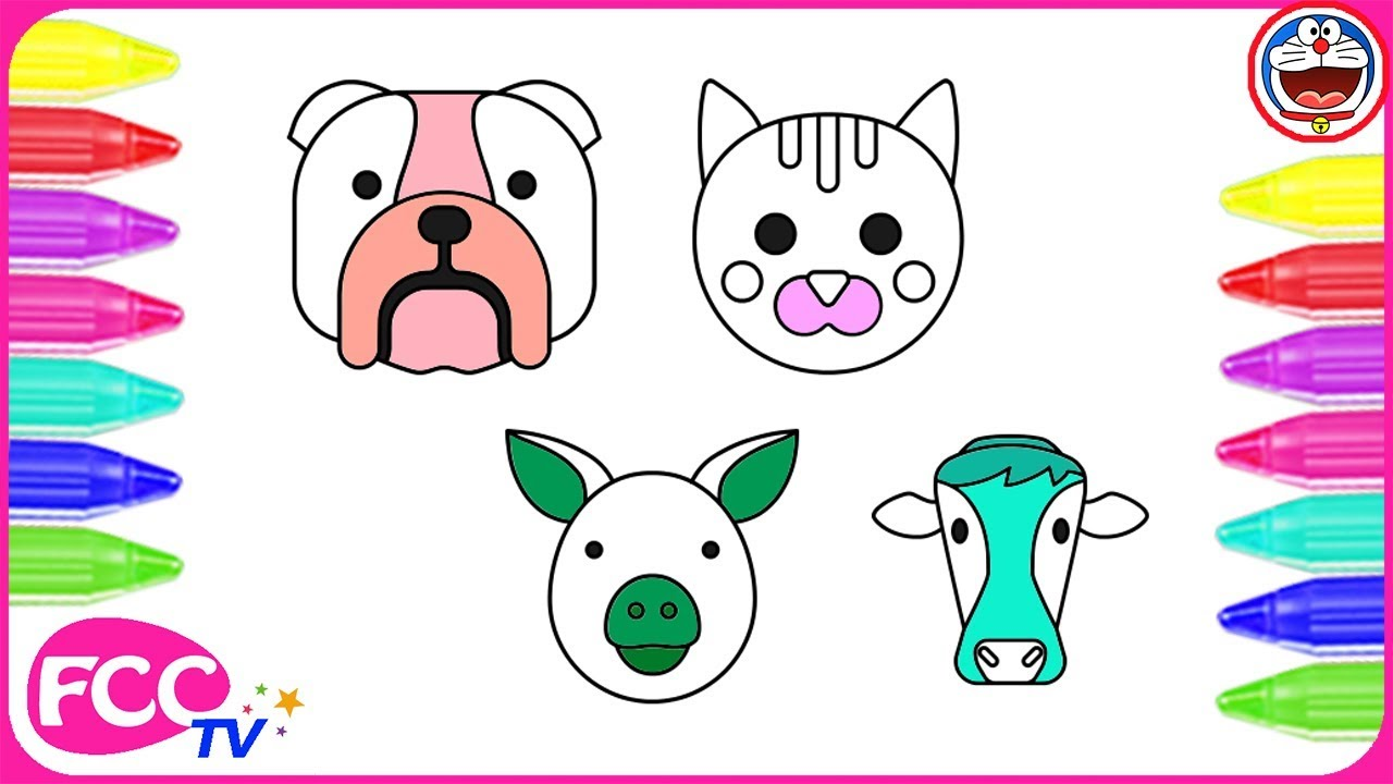 how to color animals pet color pages learn to draw bull dog