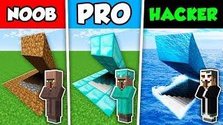 Minecraft NOOB VILLAGER vs PRO VILLAGER vs HACKER VILLAGER : SECRET BASE in Minecraft!