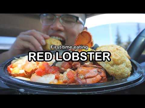 First time eating RED LOBSTER MUKBANG