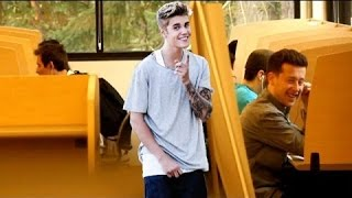 Singing ''What Do You Mean'' in the Library PRANK!