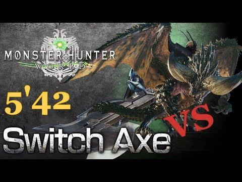 Monster Hunter World Beta (MHW) - Switch Axe vs NERGIGANTE (5'42 Solo Kill)