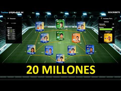 PLANTILLA DE 20 MILLONES DE MONEDAS   FIFA Ultimate Team   DjMaRiiO