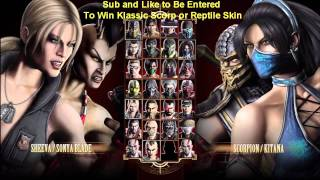 How to Select Alternate Color / Alternate Costumes Mortal Kombat 9