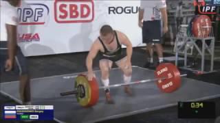 Sergey Fedosienko Russia, Deadlift, 240+,260+,267 5+, IPF Worlds 2016